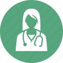 doctor, physician, stethoscope icon