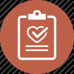 diagnosis, medical file, medical test icon