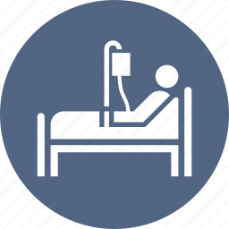 hospital bed, medical treatment, patient icon