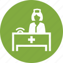 medical appointment, medical assistance, nurse icon
