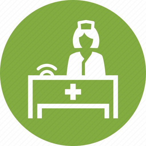 medical appointment, medical help, nurse icon