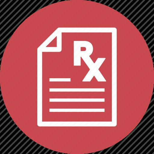 healthcare, medical file, medical treatment, prescription icon