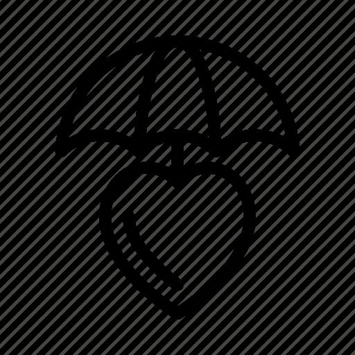 care, health, protection, secure, umbrella icon