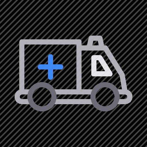 ambulance, clinic, healthcare, medical, rescue icon