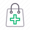 bag, clinic, healthcare, medical, sign icon