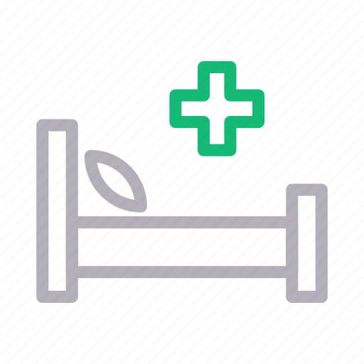 bed, clinic, healthcare, hospital, medical icon