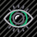 eye, medical, optical, view, vision icon