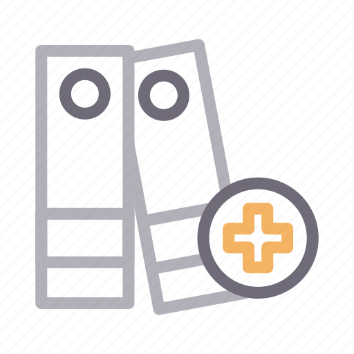 binder, files, healthcare, medical, report icon