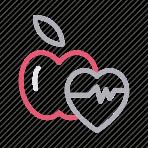 apple, diet, food, health, life icon