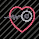cardiology, health, healthcare, heart, medical icon