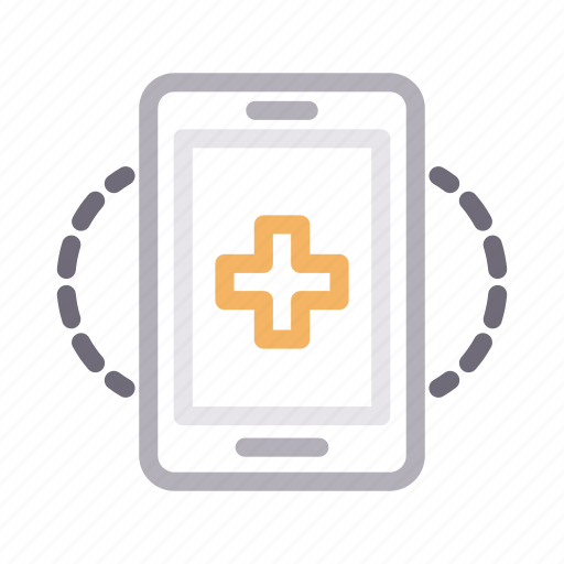 clinic, healthcare, medical, mobile, online icon