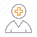 avatar, healthcare, human, medical, patient icon