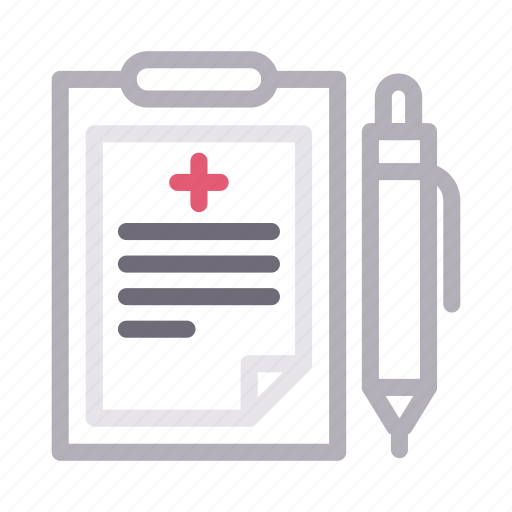 healthcare, medical, report, sheet, write icon