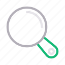 glass, lab, magnifier, medical, search icon