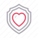 healthcare, medical, protection, secure, shield icon