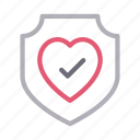 health, life, protection, secure, shield icon
