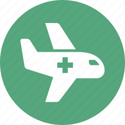 air ambulance, airplane, emergency, first aid icon
