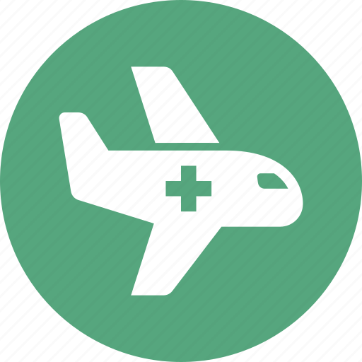 air ambulance, airplane, emergency icon