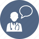 doctor, medical assistance, medical question icon