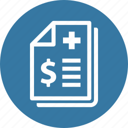 health insurance, medical bill, medical file icon