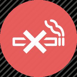 cigarette, no smoking, tobacco icon