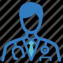 assistant professor, doctor, physician, professor, hospital, medical, optometrist icon