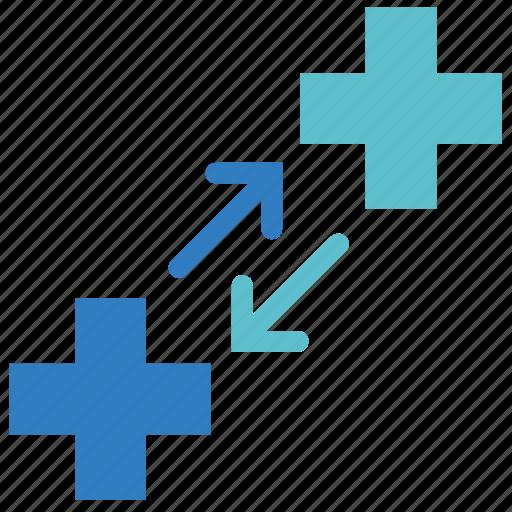 Change, medical, move, swap, transfer, healthcare, hospital icon - Download on Iconfinder