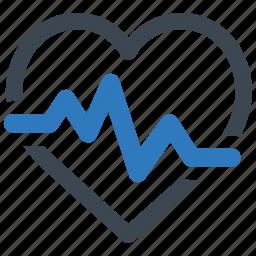 cardiogram, heart care, pulse icon