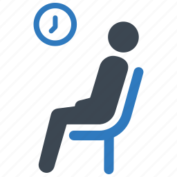 healthcare, patient, waiting room icon