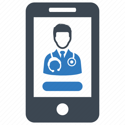 medical question, mobile health, online doctor, online medical help icon