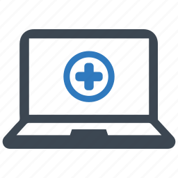 ehealth, online doctor, online medical help icon