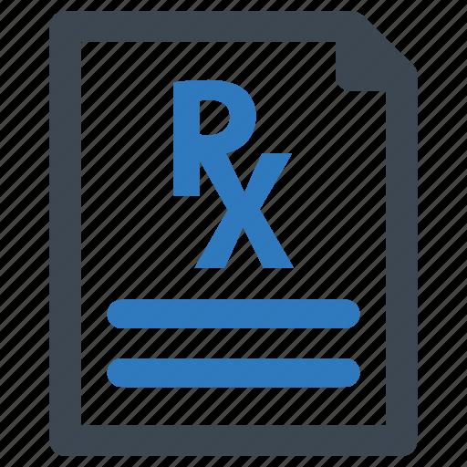 medical file, pharmacy, prescription, treatment icon