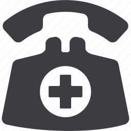 doctor on call, medical assistance, medical help, telephone icon