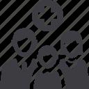 family medicine, health insurance, family insurance icon