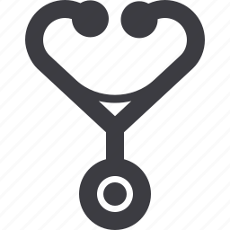medical care, stethoscope, symptom checker icon