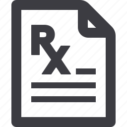 medical treatment, pharmacy, prescription icon