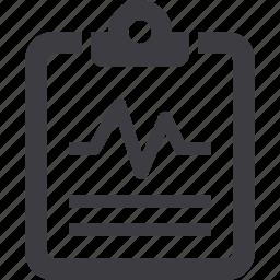 cardiogram, diagnostic, medical diagnosis, medical file icon