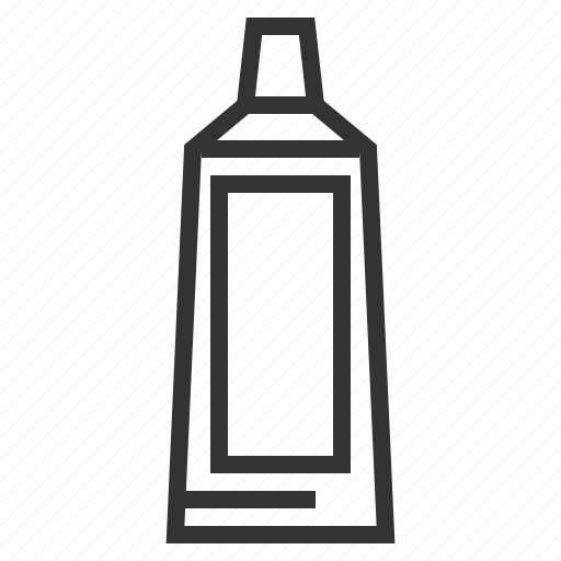 line, outline, toothpaste, tube icon