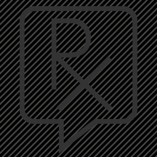 line, outline, prescription icon