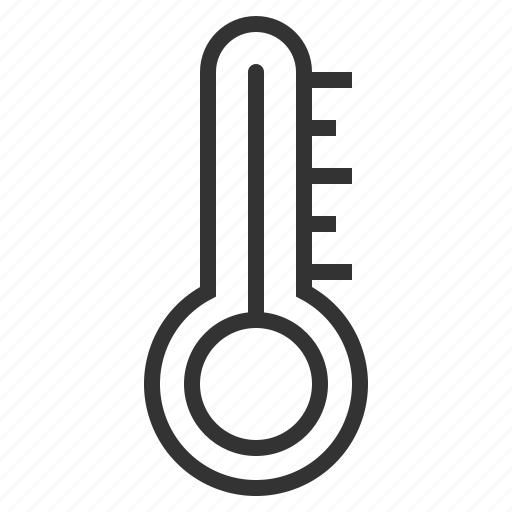 line, outline, thermometer icon