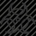 biological, biological hazard, biology, hazard, line, outline icon