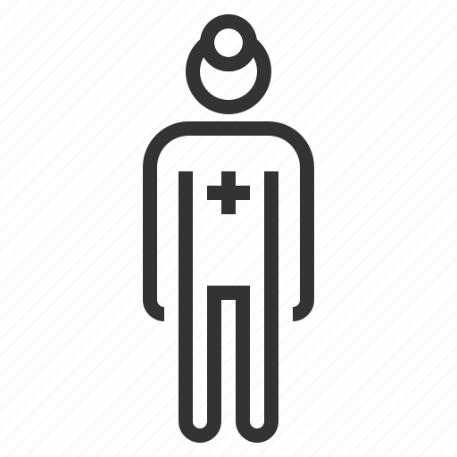 doctor, line, man, medical, outline, people icon