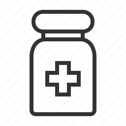cross, health, line, medical, outline, pills, tube icon