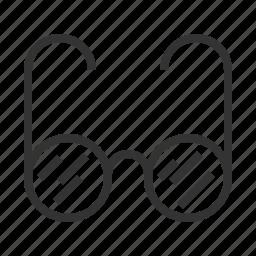 glasses, line, outline icon