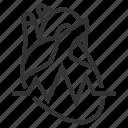 anatomy, heart, line, outline, pulse icon