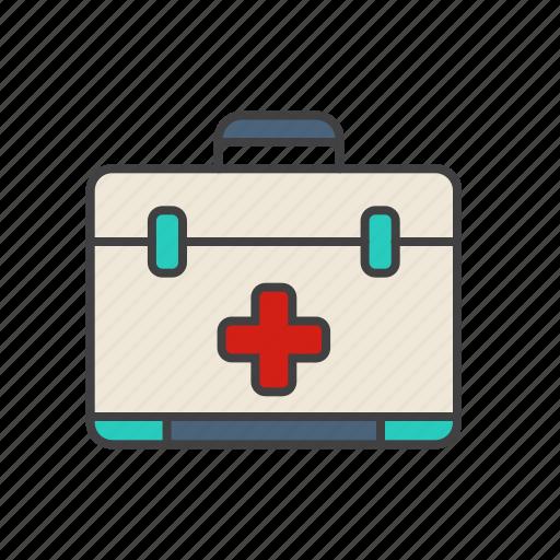 briefcase, doctor, health, healthcare, hospital, medical icon icon