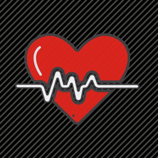 beat, bitmap, cardio, cardiogram, care, clinic, medicine icon icon