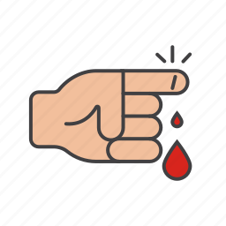 bandage, finger, hand, health, healthcare, hospital icon icon