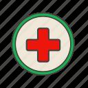 cross, doctor, healf, medicine icon icon