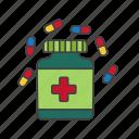 antidote, medicine, remedy, tablets icon icon